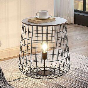 Lindby Lindby Winnie stojací lampa s dřevěnou deskou