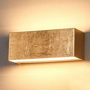 Lindby LED nástěnné svítidlo Quentin, zlaté, šířka 23 cm