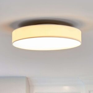 Lindby LED textilní stropní lampa Saira, 40 cm, bílá