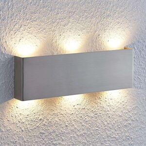 LED nástěnné svítidlo Manon, nikl, 35 cm