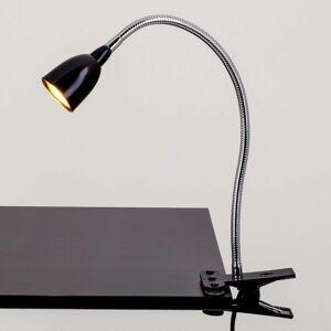 Rabea - LED svítilna s klipem v černé