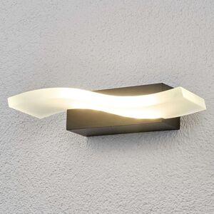 Lindby LED venkovní nástěnné svítidlo Jirka, tvar vlny