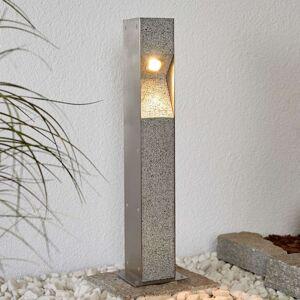 LED sloupkové svítidlo Amelia, žula, V4A, 60 cm