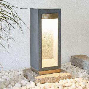 LED svítidlo se soklem Adejan, čedič, V4A, 40 cm
