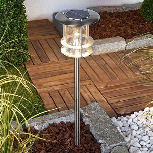 Sumaya - LED solární lampa z nerezové oceli