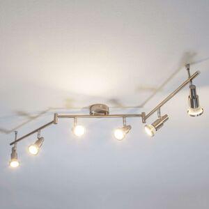 LED stropní svítidlo Aron barvy nikl, 6zdrojové