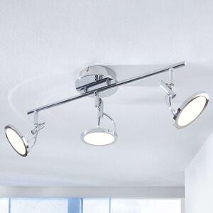 LED stropní bodové svítidlo Jorne, chrom 3zdrojové