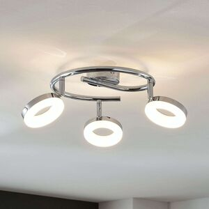 LED stropní světlo Ringo, 3zdrojové spirála