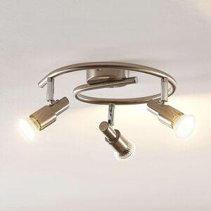 ELC Farida LED stropní svítidlo, nikl, 3žárovkové