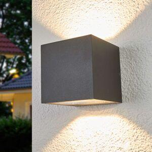 Lucande Jasně svítící LED venkovní nástěnná lampa Merjem