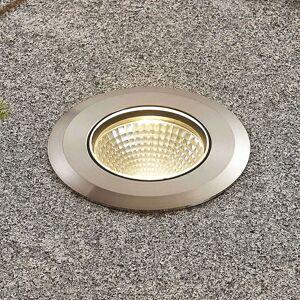 Lucande LED nerezové zemní zápustné svítidlo Sulea kulaté