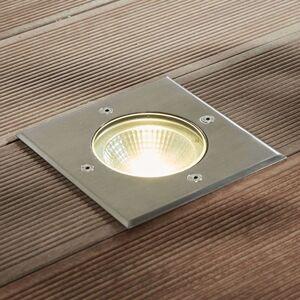 LED nerezové zemní zápustné svítidlo Sanna hranaté