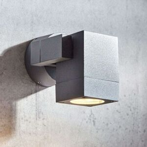 Lucande Venkovní osvětlení Kavuna, tmavě šedé IP54 hranaté