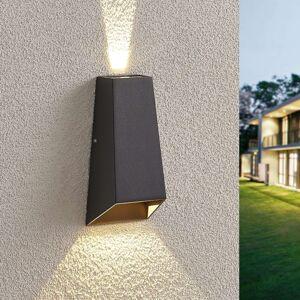LED venkovní nástěnné světlo Dagur, tmavě šedé