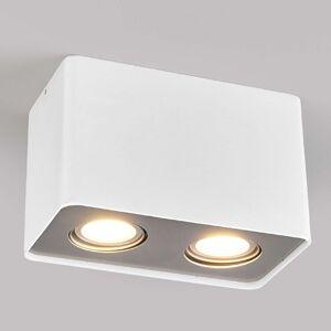 LED downlight GU10 Giliano, 2zdroj, hranaté, bílé