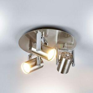 Kulatý LED stropní reflektor Luciana, 3zdrojový
