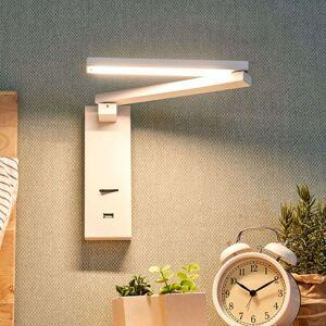 LED nástěnná svítilna Salloa s vypínačem