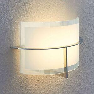 LED nástěnná svítilna Jaryna s korpusem z chromu