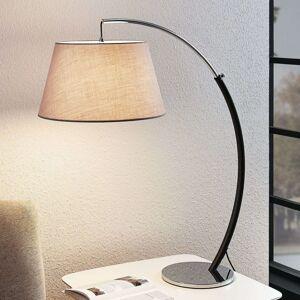 Oblouková stolní lampa Evelyna se stínidlem