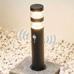 Lindby LED svítidlo se soklem Lanea z nerezu se senzorem