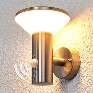 Nástěnné světlo se snímačem Tiga pro exteriér, LED