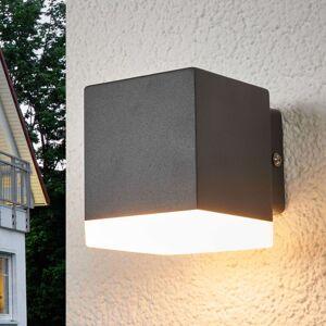 Venkovní nástěnné svítidlo Hedda šedé s LED