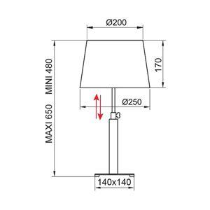 Aluminor Aluminor Quatro Up stolní lampa eben/chrom