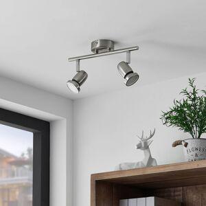 ELC ELC Simano LED stropní reflektor, nikl, 2 zdroje