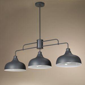 EULUNA Závěsné světlo Oslo se 3 šedými kovovými stínidly