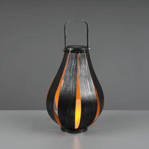 Reality Leuchten LED solární stolní lampa Montero, baterie, stříbro