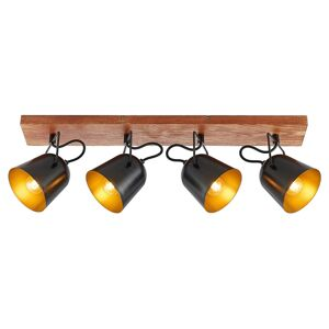 Lindby Lindby Adalin stropní světlo, čtyři zdroje, černá