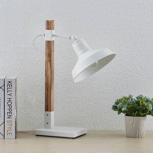 Lindby Lindby Calliora stolní lampa, bílá, kov a dřevo