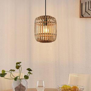 Lindby Lindby Canyana závěsné světlo z ratanu, přírodní