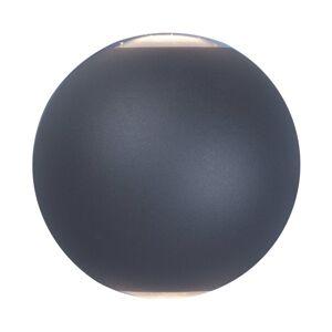 Lindby Lindby Esmani nástěnné světlo kulaté 2 zdroje šedé
