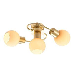 Lindby Lindby LED stropní světlo Ciala, 3 zdroje, mosaz