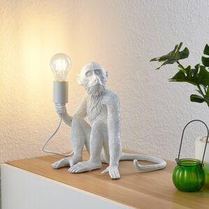 Lindby Lindby Monki stolní lampa ve tvaru opice, bílá