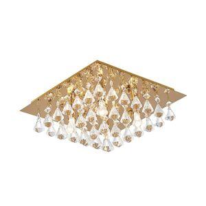 Lindby Lindby Rimedia stropní svítidlo, zlatá, 35 cm