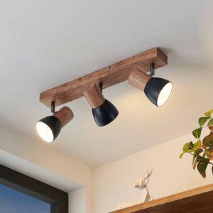 Lindby Lindby Tonja stropní reflektor se dřevem, 3 zdroje