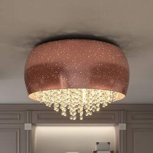 Lucande Lucande Elinara křišťálové stropní světlo, 6, měď