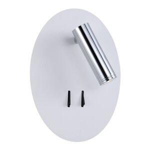 Lucande Lucande Kimo LED nástěnné světlo ovál bílá