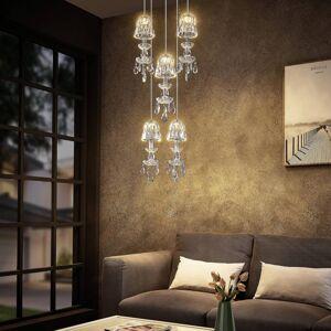 Lucande Lucande Yasanie LED závěsné světlo 5 zdrojů kulaté
