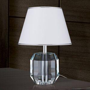 Orion Stolní lampa Alexis s křišťálem chrom/bílá
