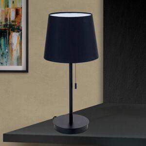 Orion Stolní lampa Ludwig s portem USB černá