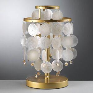 EULUNA Stolní lampa Ruben s perleťovými prvky