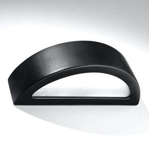 EULUNA Nástěnné světlo Bow up/down keramika černá 38 cm
