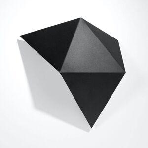EULUNA Nástěnné světlo Shield v hranatém tvaru, černá