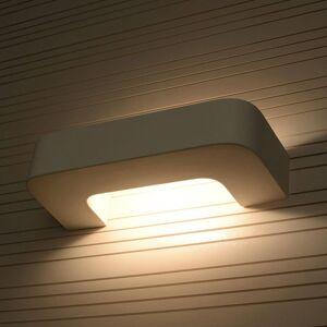 EULUNA Nástěnné světlo Grip z bílé keramiky