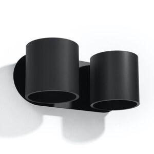 EULUNA Nástěnné světlo Mirza up/down dva zdroje v černé