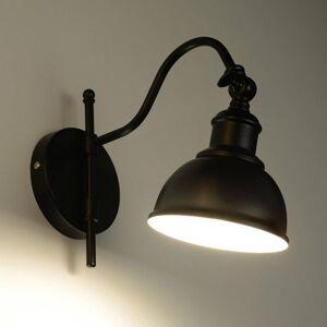 EULUNA Nástěnné světlo Smak z černé oceli, nastavitelné