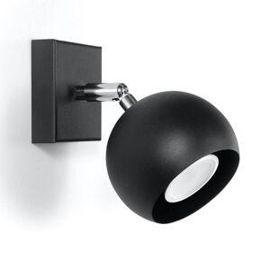 EULUNA Nástěnný reflektor Flame z oceli, černá